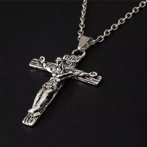 Jesus Cross Silver Necklace